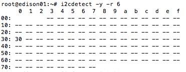 I2Cデバイスの識別成功